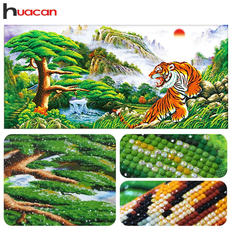 Huacan, 3D diy diamant borduurwerk, tijger, china, diamant schilderij - Kunsten, ambachten en naaien