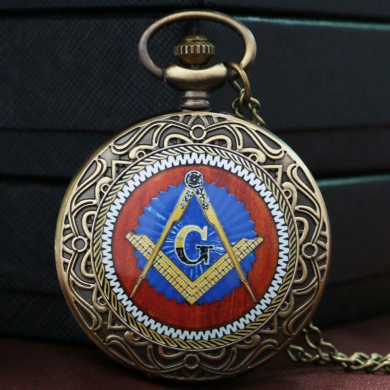 Moda Mistik Masonik Mason Masonluk Tema Bronz zincirli cep saati KolyeModa Mistik Masonik Mason Masonluk Tema Bronz zincirli cep saati Kolye
