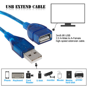 Image 3 - USB 2.0 Male to Female USB Cable Extend Extension Cable 1M/3M Copper Wire Cord Extender For PC Laptop Harddriver