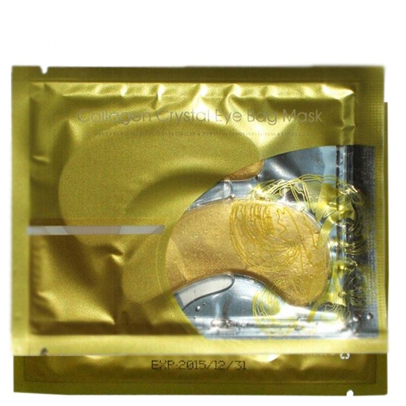 10Pairs/lot Gold Powder Crystal Collagen Eye Bag Mask Eye Patch Dark Circle Anti Puffiness Anti Aging Crystal Collagen Eye Mask