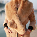 New Fashion Women Shrug Winter Fashion Faux Fur Collar Scarf Warm Shawl Wrap Stole Cape drop shipping