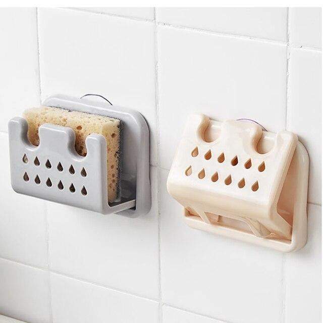 1 Pc gąbka kuchenna spustowy stojak składany uchwyt gąbka zlew do przechowywania półki spustowy stojak kuchnia łazienka akcesoria