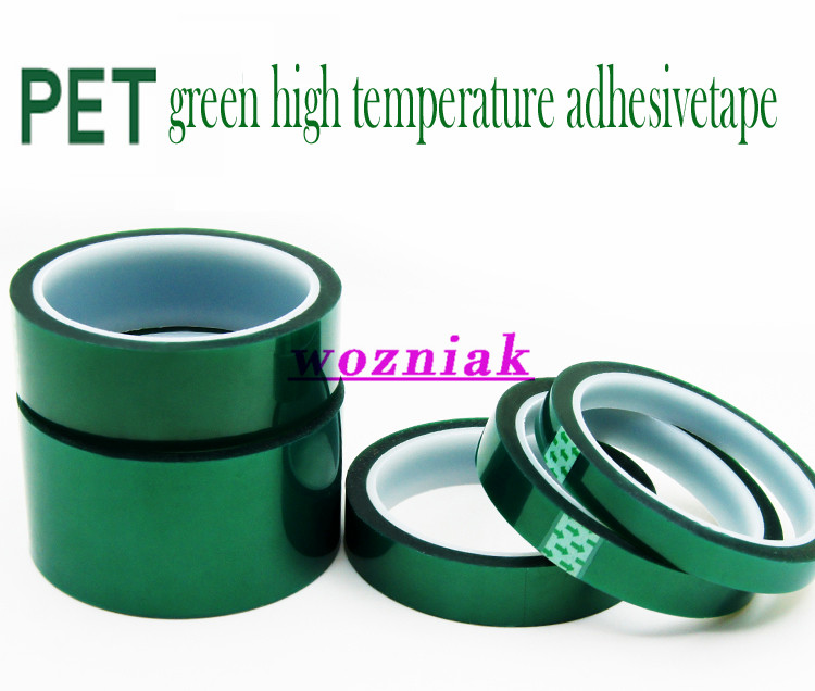 wozniak PET green high temperature tape heat resistant tape Spray paint non-trace PCB plating covered insulation tape
