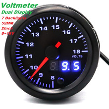 12V 52MM 2Inch 10000 RPM Car Tachometer/Voltmeter/Water Temperature Meter/ Oil Meter/Oil Pressure Meter 7 Blacklight