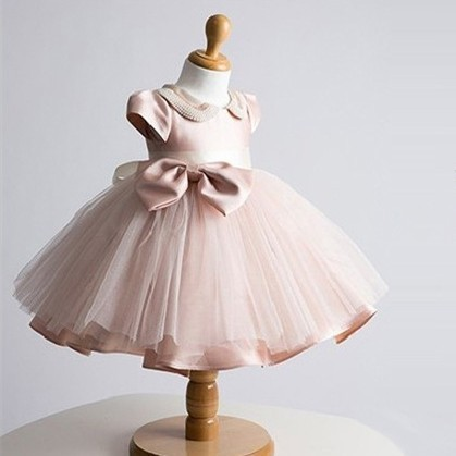 Perfect for first birthday party wear for baby girls,Fine handwork pearl collar,Frock designs vestidos infantis dress