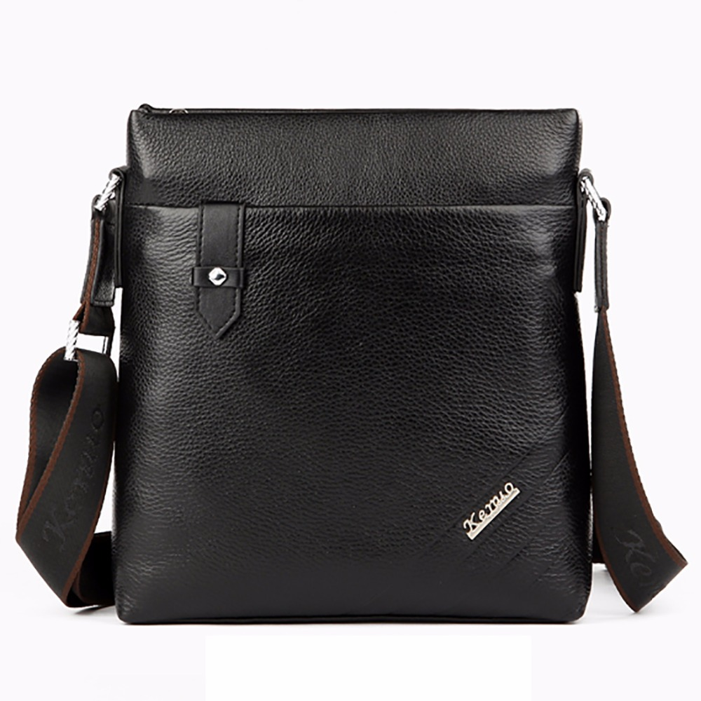 100% Genuine Leather Men Business Single Shoulder Bag Fashion Travel Casual Male Cross Body Satchel Famous Brand Messenger Bags