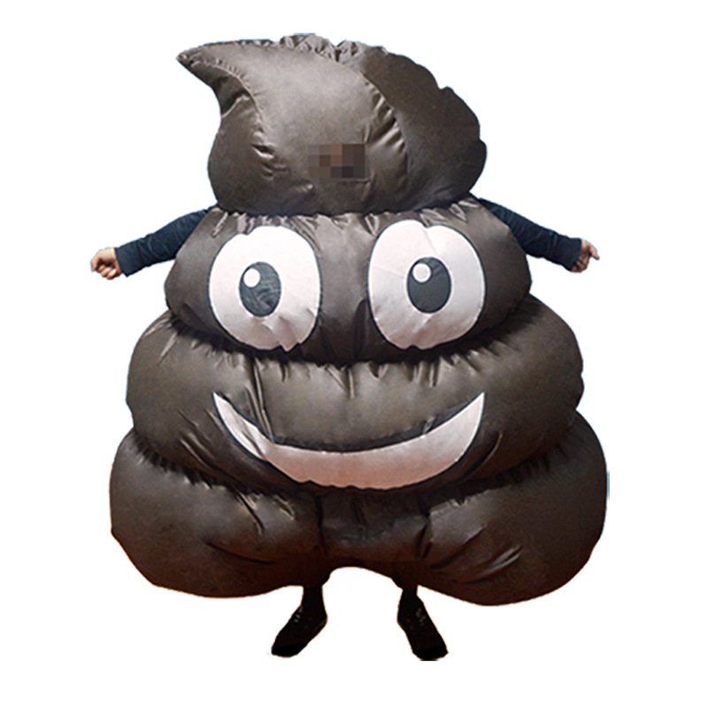 Emoji Poop Pile Cosplay Costume Stool Feces Inflatable Clothes Halloween Christmas Outfits Make-up Party Clothing Novetly Toys