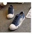 Весна Лето Женщины Холст Обувь Высокого Качества Студент Обувь удобную обувь с плоской обуви