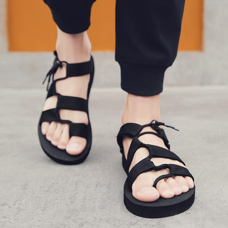 Men Sandals Gladiators Casual Roman Shoes Outside Breathable Mens Sandals Summer Comfortable Light Sandalias Hombre Plus Size 45
