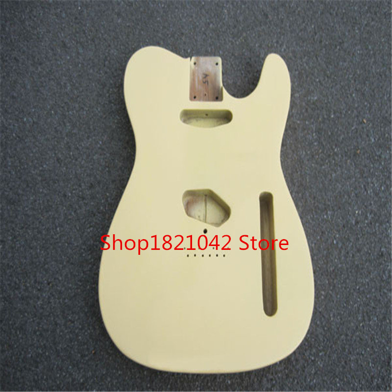 High quality electric guitar milk yellow TL guitar, piano, unfinished free shipping! high quality