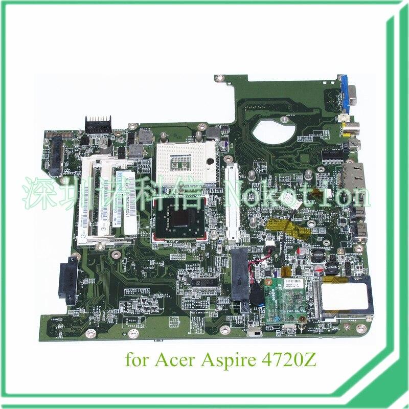 DA0Z01MB6E0 REV E MBAKD06001 MB.AKD06.001 for acer aspire 4720 4720Z laptop motherboard GL960 DDR2