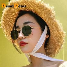 купить New Arrival Polygon Clear Square Sunglasses Women Fashion Brand Design Lady Vintage Metal Small Frame Plain Sun Glasses UV400 дешево