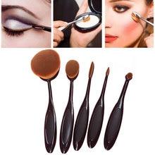 5Pcs Toothbrush Makeup Brush Set Black Makeup Brushes Eyeshadow Make Up Brush Oval Foundation Oval Make Up Brush Tools #83354