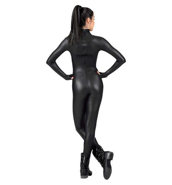 Для взрослых с длинным рукавом комбинезон блестящий металлик Unitard Женская лайкра из спандекса, для гимнастики танцевальный комбинезон цельный Unitard Бесплатная доставка