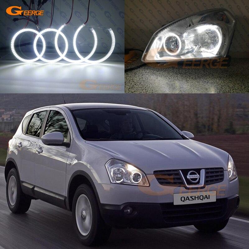 For Nissan Qashqai 2007 2008 2009 2010 Excellent Ultra bright illumination smd led Angel Eyes kit
