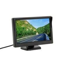 """Nuevo 5 """"800*480 (no 320*240) coche Pantalla de Vídeo 2ch Monitor Del Coche TFT LCD Monitor de TV del Revés del Rearview Cámara de Copia de seguridad venta caliente"""