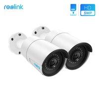 Reolink Surveillance Camera PoE 5MP IP cam Bullet Outdoor Indoor CCTV Onvif Infrared Cam RLC 410 2 (2 pack)