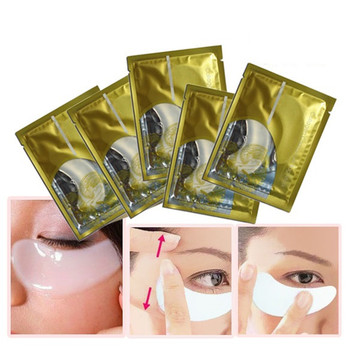 BIOAQUA Crystal Collagen Eye Mask Eyes Black Circles Removal Patch Anti Cernes Facial Bubble Sheet Face Gold Skin Care