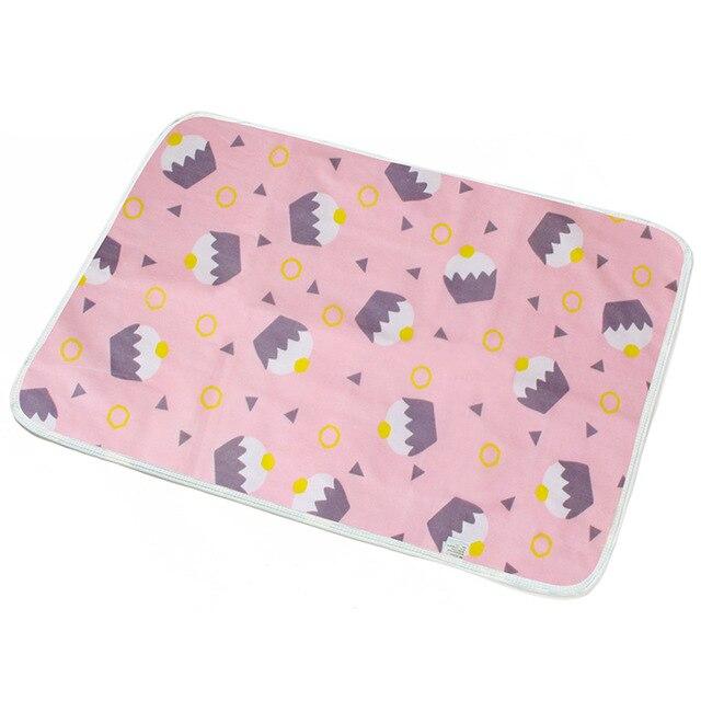 Пеленальный Коврик для младенцев, портативный складной моющийся Водонепроницаемый Матрас, коврик для путешествий, коврики, подушка, многоразовый матрас - Цвет: Розовый