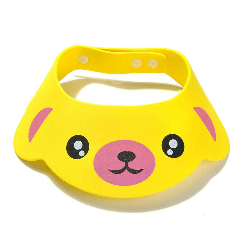 Inflant Pudcoco Macio Ajustável Bebê Crianças Shampoo Duche Cap Hat Wash Escudo Cabelo Helen115