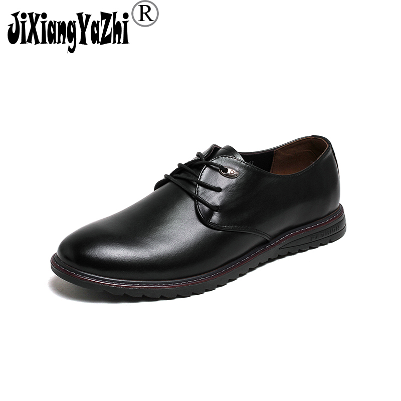 JIXIANGYAZHI brand 2018 spring genuine leather British style business casual lace up men's shoes,red black Oxford shoes # N-002 new brand black white vintage women footwear lace up casual oxford flat shoes woman british style breathable zapatos mujer