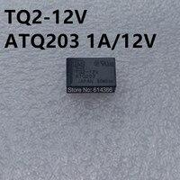 Free Shipping 10PCS LOT NAIS TQ2 12VDC TQ2 12V TQ2 DC12V ATQ203 1A 12V 10P Relays