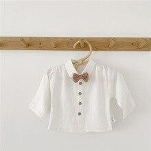 MILANCEL/одежда для малышей рубашки для дня рождения для маленьких мальчиков блузка для новорожденных белая рубашка для малышей Топы для маленьких мальчиков