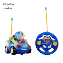 New Baby Boy Girl Remote Control Electric Toy Car Kids Remote Control Car Speed Cute Cat Cartoon Music Light Kids Car Toys
