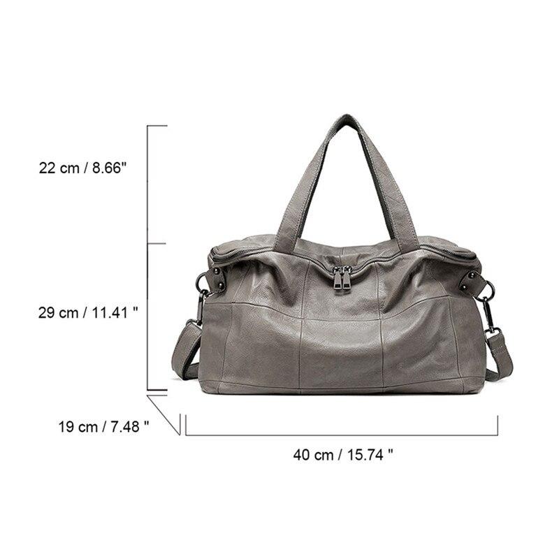Black Big Véritable Femmes Main Sac Qualité Bags Cuir Haute Doux Mode Nouveaux gray Épaule Bandoulière Sacs 2018 Luxe À De Pour F4Hwtxq5n