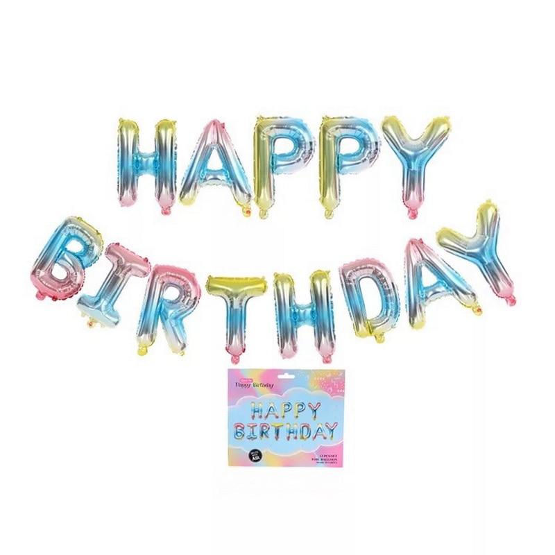 Letter Balloons Foil Spain Happy Birthday Alphabet Balloon Birthday Party Decorations Kids Baby Shower Balls