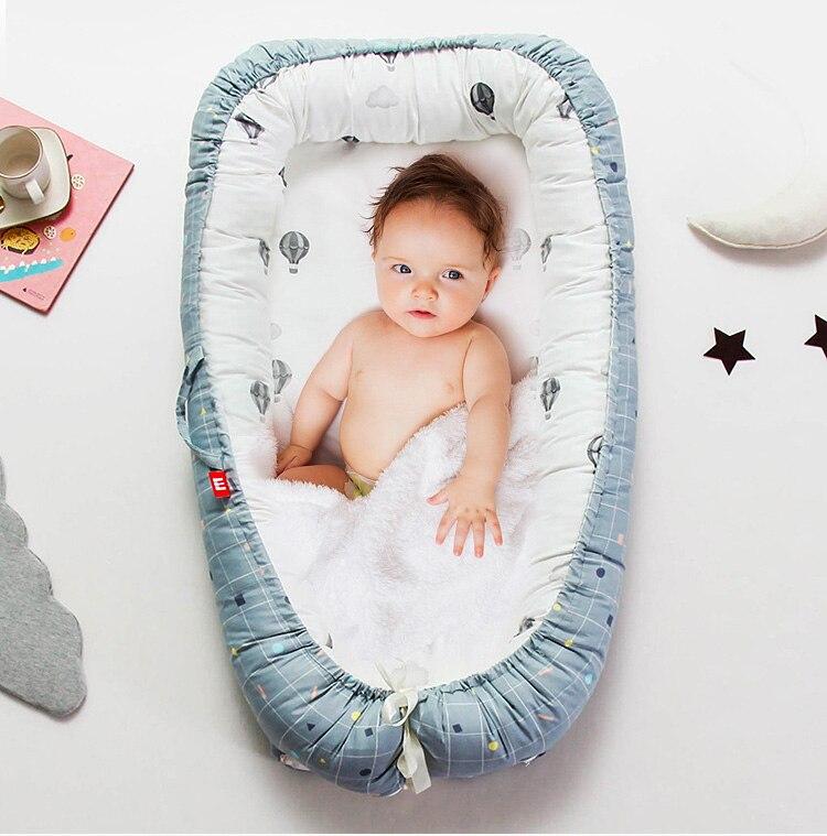 Bébé nid lit voyage berceau bébé lit infantile CO dormir coton berceau Portable blottir 90*55 cm nouveau-né bébé couffin BB artefact - 3