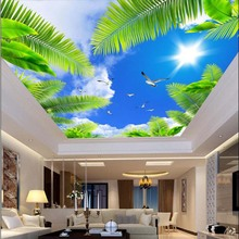 Wallpapers for Ceilings Wallpaper Tree Mural Photo Wall Paper for Bedroom Walls Decor Murais de parede 3d papel de parede(China)