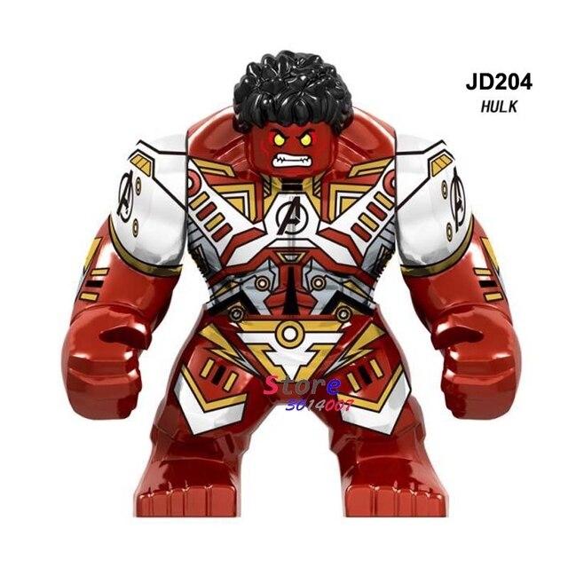 Vingadores Marvel Thanos Endgame Grande tamanho único 7 CENTÍMETROS Red Hulk Homem De Ferro Homem Aranha Black Panther Figura blocos de construção Criança brinquedos