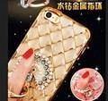 Rhinestone case para iphone 7/7 plus silicone glitter diamante tampa transparente para o iphone 7 plus casos saco telefone coque luxo