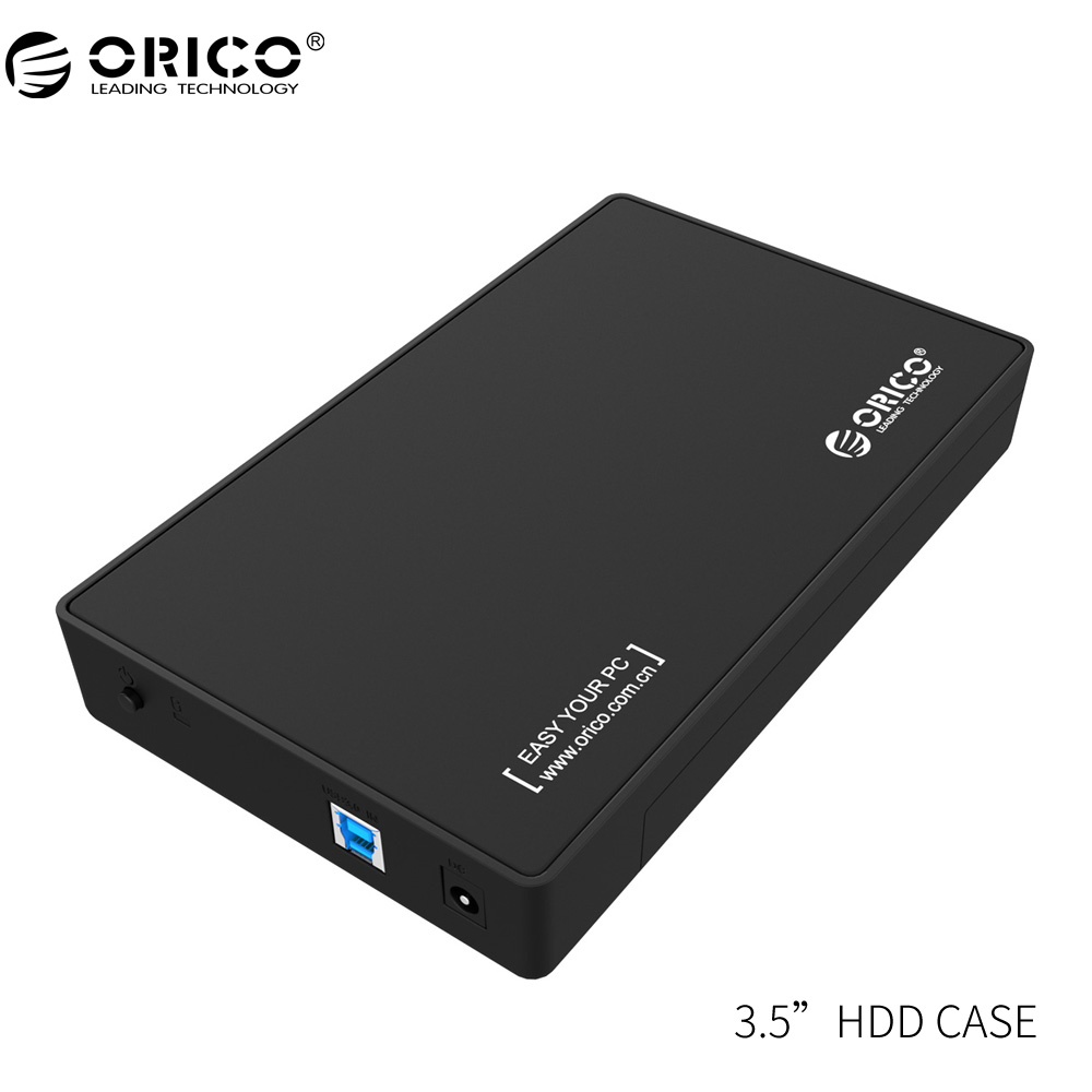 ORICO 3.5 HDD Enclosure 3.5-inch SATA External Hard Drive Enclosure, USB 3.0  Tool Free  for 3.5 SATA HDD and SSD orico 2 5 usb 3 0 sata hd box hdd hard disk drive external hdd enclosure transparent case tool free 5 gbps support 2tb