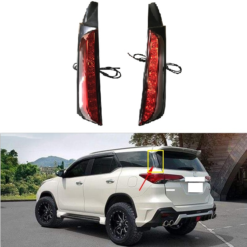 Car Led Rear Bumper light Fit For Fortuner 2015 2016 2017 LED Brake lamp Car tail Lamp Bumper Light Taillight Car Accessories free shipping for vland car tail lamp for civic led taillight 2016 2017 with spoiler light all led design