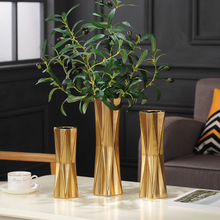 Nordic home decoration flower vases gold silver ceramic vase living room home decoration ornaments vases for wedding decoration nordic modern geometric gold ceramic vase creative vases for flower living room tabletop wedding vase home decorative ornaments