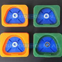 1 pièces laboratoire dentaire magnétique Silicone plâtre moule dentiste laboratoire matériaux plastique modèle ancien Base pour plâtre modèles avec magnétique