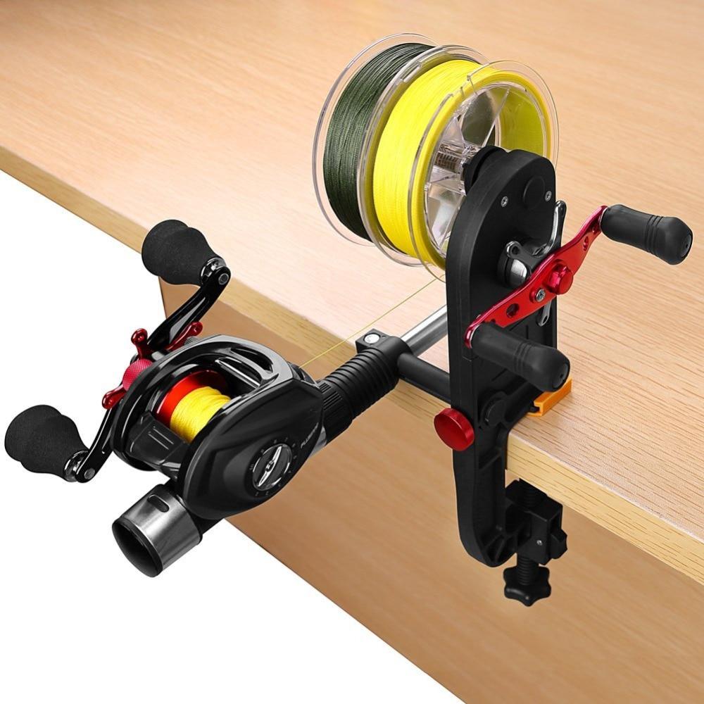 Plusinno Fishing Line Spooler Fishing Gear Multifunction Baitcasting Reel Spooler portable Fishing Line Winder spooler portable line spooler
