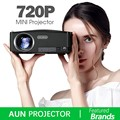 Brand AUN C80. HD MINI Projector, 1280x720P, Video Beamer. Support 1080P, HDMI, USB, (Optional C80 UP Android version WiFi)