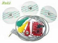 Free Shipping Ecg Module AD8232 Ecg Measurement Pulse Heart Ecg Monitoring Sensor Module Kit
