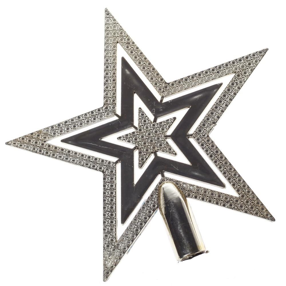 comprar adornos navidad cm oro estrella de cinco puntas del rbol de navidad de christmas flash fiable proveedores en fashion and perfect