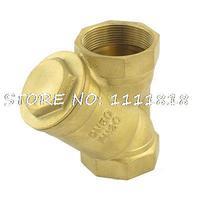 Y Type Sanitary Brass Filter for Water pipe 6cm Diameter Bronze Tone