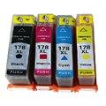 4 HP 178 HP178 Совместимый патрон чернил Для HP Photosmart 7515 B109a B109n B110a Плюс B209a B210a Deskjet 3070A 3520 принтер