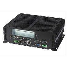 PC intel industrial incrustado, procesador P8600, 2 * LAN y RS485, ordenador resistente Sin ventilador, Mini PC