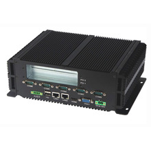 組込み産業用 pc インテル P8600 プロセッサ 2 * LAN & RS485 頑丈なコンピュータファンレスミニ PC