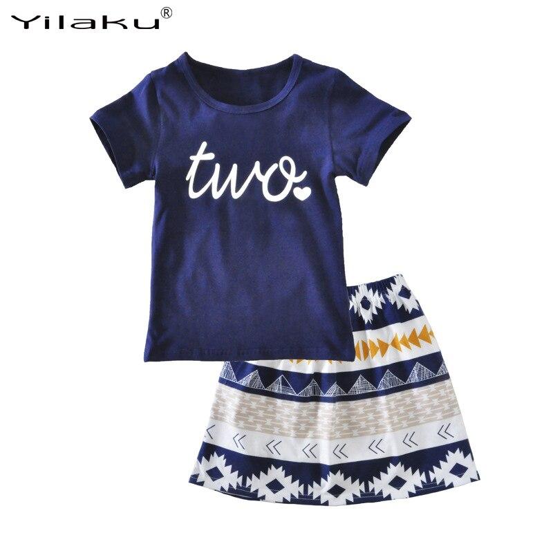 Yilaku-Girls-Clothes-Sets-Kids-Clothing-2pcs-T-shirt-and-Skirt-Set-Baby-Girl-Outfit-2017-Summer-Toddler-Girl-Clothing-CF512-1