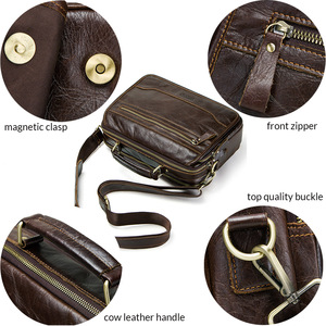 Image 5 - CONTACTS new oil cow leather mens messenger bag male satchel bag men crossbody bags masculina bolso big casual shoulder bags