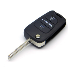 WhatsKey 3 Buttons Folding Flip Remote Key Shell Cover Fob Case For Hyundai I30 IX35 Avante Verna Kia K2 K5 With Logo цены онлайн