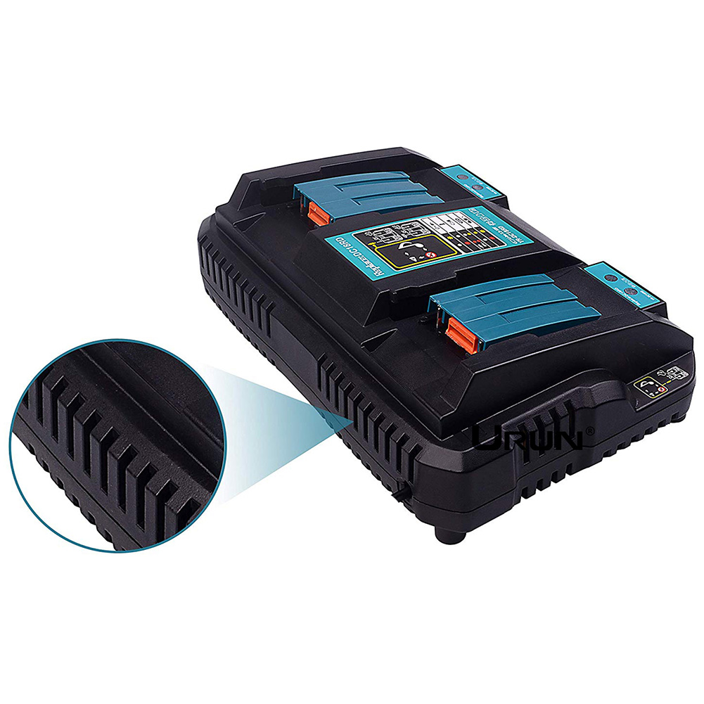 Chargeur de batterie rapide protection de charge double charge 14.4 V/18 V DC18RD \ RC 3A pour MAKITA EM88